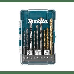 Set brocas HSS-TIN Metal Surtido 19 piezas D-72229-10 Makita