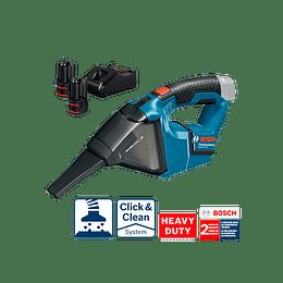 Aspirador inalámbrico GAS 12V Professional Bosch (2 Baterías + Cargador)