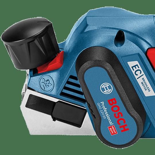 Cepillo inalámbrico GHO 12V-20 Bosch + 2 Baterías + Cargador