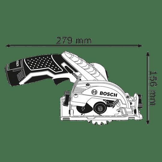 Sierra circular inalámbrica GKS 12V-26 +2 Baterías + Cargador Professional Bosch