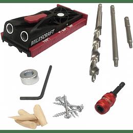 Kit Guía perforación PocketJig200 1325 Milescraft