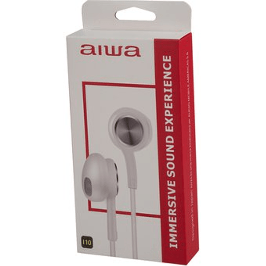 Audífonos con cable in ear negro AW-I10 Aiwa