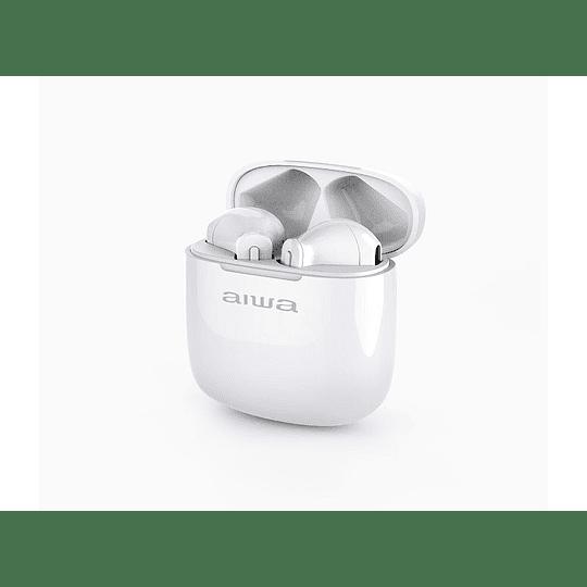 Audífono Inalámbrico Bluetooth blanco TWS AW-9 Aiwa