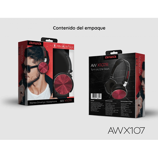 Auriculares c/cable y Micrófono AW-X107 Aiwa