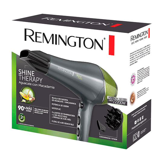 Secador de cabellos Shine therapy D18A Remington