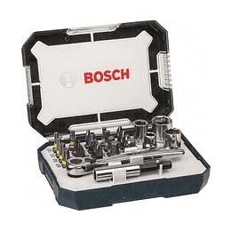 """Set 26 Pcs Mini Juego Puntas y Dados 1/4"""" Bosch"""
