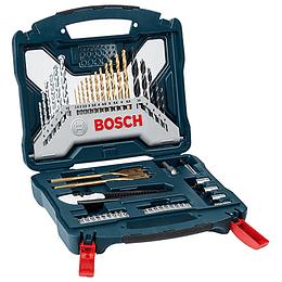 Set 50 Pcs Puntas y Brocas +Cartonero Azul X-Line 2607017406 Bosch
