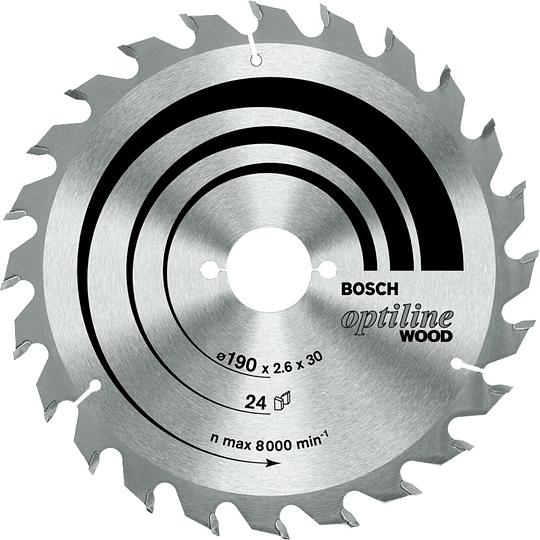 Disco sierra circular 180mm 40DT Bosch Optiline Wood