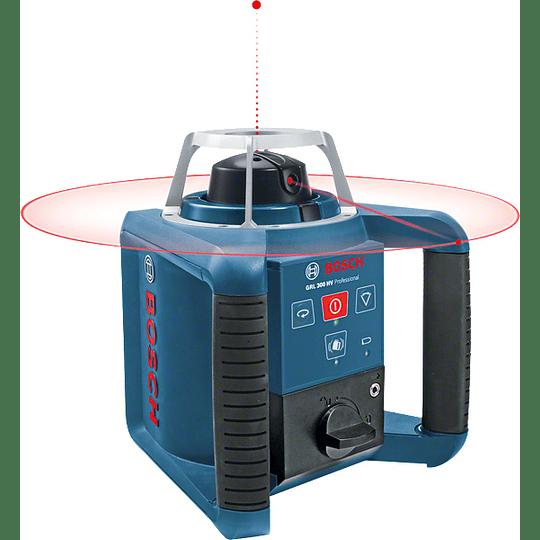 Nivel rotativo Profesional + Receptor + Soporte GRL 300 HV Bosch