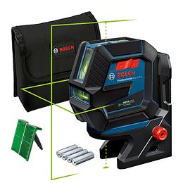 Nivel Laser Combinado Líneas y Puntos Verdes GCL 2-50 G + RM10 + Trípode Bosch