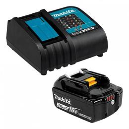 Set 1 Batería 18V 3.0ah  + Cargador 191E70-1 Makita