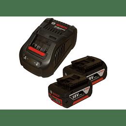 Kit 2 Baterías GBA 18V 3.0Ah +Cargador GAL 1880 CV Professional Bosch
