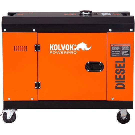 Generador eléctrico Diesel Monofásico Insonoro 5KVA GS700D Kolvok
