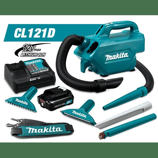 Aspiradora Inalámbrica 12V CL121DZ-1 + Batería + Cargador Makita