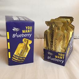 Pack 12 unidades Power Honey Blueberry, Con Cafeina