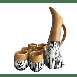 Juego Pisco Sour Zebra 2