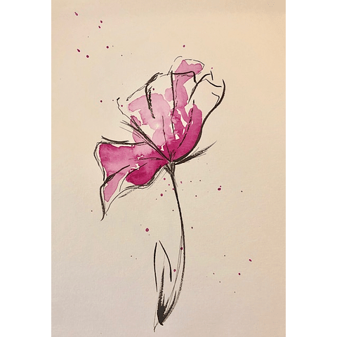 Acuarela flor Az