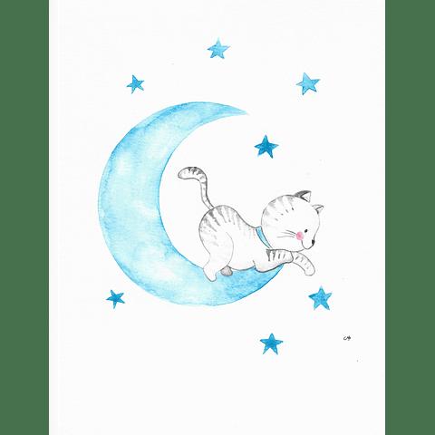 Gato en la luna