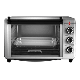 HORNO BLACK + DECKER PLATA TO3210SSD-CL 24LTS