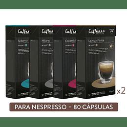 Pack 80 Cápsulas Café Arábica - Cafesso