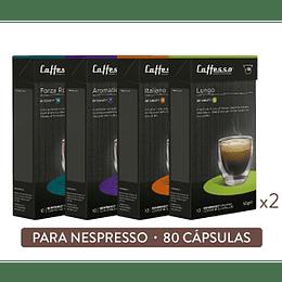 Pack 80 Cápsulas Aromas Intensos - Cafesso