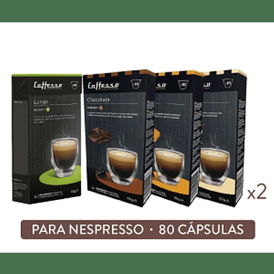 Pack 80 Cápsulas Sabores - Cafesso