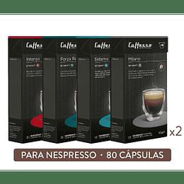 Pack 80 Cápsulas Espresso Forte - Cafesso