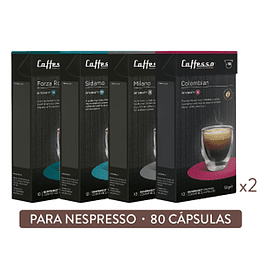Pack 80 Cápsulas Best Sellers - Cafesso