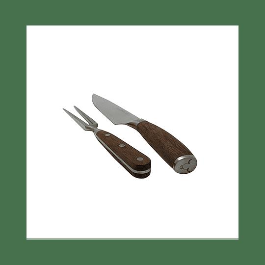 Set Cuchillo y Tenedor Parrillero Piezas Marca Wayu