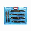 Set 6 Cuchillo Tomadachi Geometric Negro Marca Hampton Forge