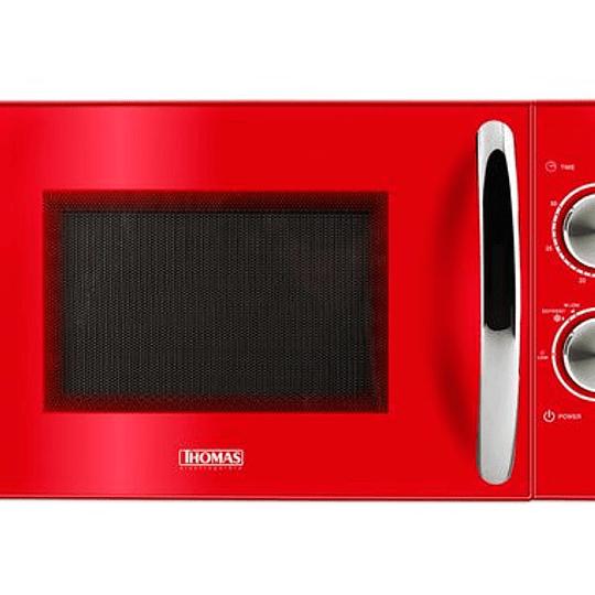 Microondas Rojo TH-20R02 Marca Thomas