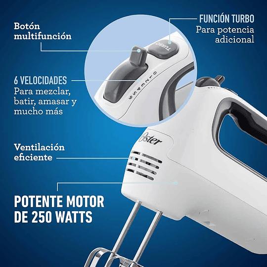 Batidora De Mano Oster 6 Velocidades Y Turbo Fpsthm3532