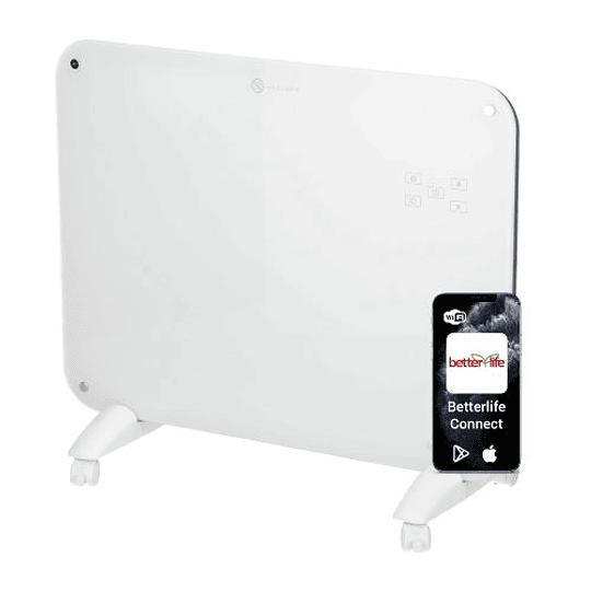 Panel Calefactor Muro/Piso de Cristal WiFi SmartHome 20 m2 2000 W betterlife CG-20LED