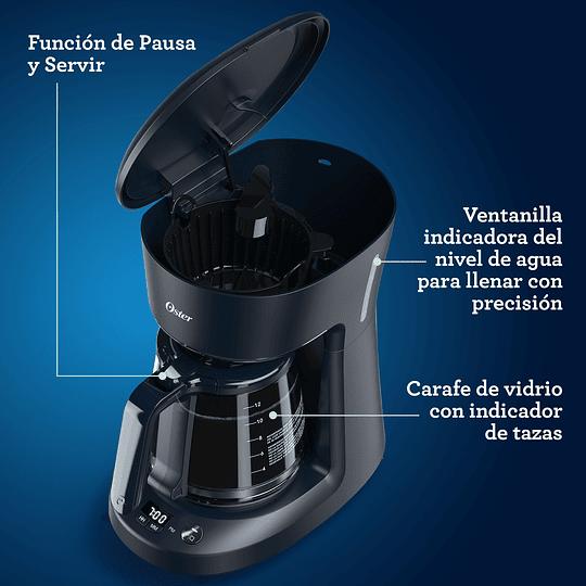 Cafetera programable Oster® de 12 tazas negra con auto apagado BVSTDCP12B