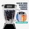 Licuadora 2 Vel Más Pulso Y Vaso De Vidrio Negra Oster