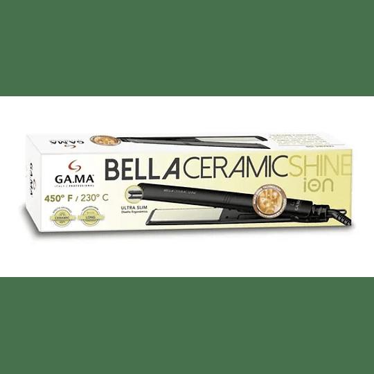 Plancha Alisadora Gama Bella Ceramic Shine Ion Ultra Slim