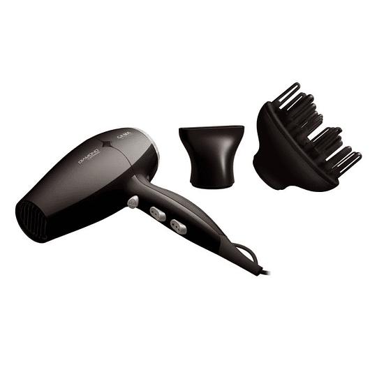Secador de Pelo Diamond Ceramic Negro Marca Gama