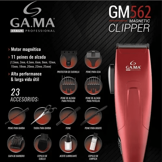 Cortapelo Clipper Gm 562 Motor Magnético 24 Piezas