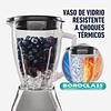 Licuadora 2 Vel Más Pulso Y Vaso De Vidrio Plateada Oster