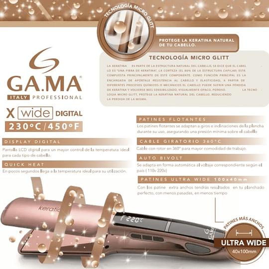 Plancha de cabello Gama Italy X-Wide Digital Keration