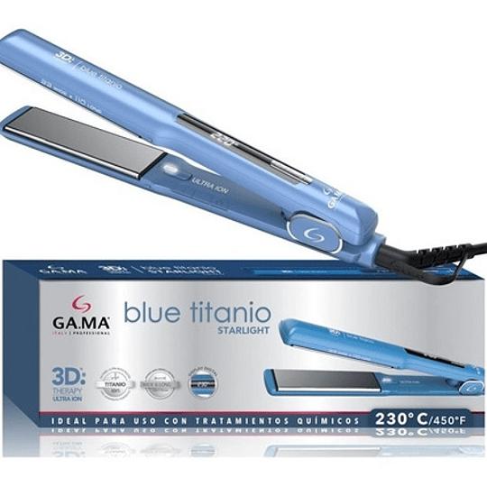 Plancha Alisadora Gama Starlight Blue 3d Titanio Ion