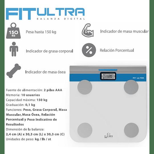 Balanza Pesa Fit Ultra Gama Imc Muscular Grasa Oseo