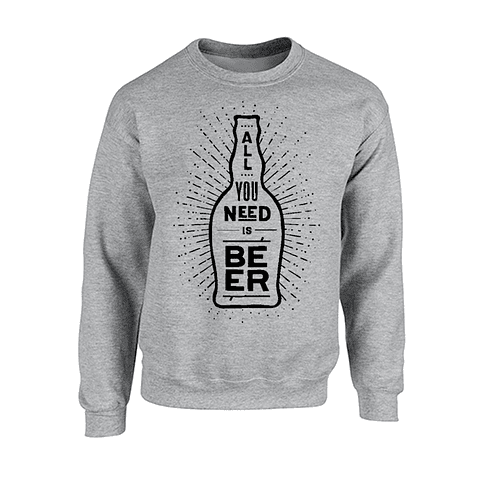 Saco cuello redondo - All you need is beer