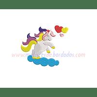 DP14AY - Unicornio en nubes