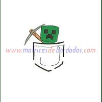 MA53XV - Bolsillo Creeper Minecraft