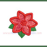 DP42FX - Flor en apliqué Navidad