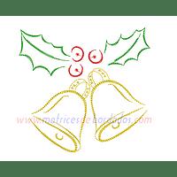 RG68HQ - Adorno navidad muérdago y campanas