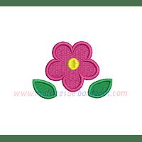 DD96AK - Flor con hojas