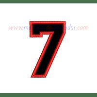 XN71GF - Número siete en apliqué
