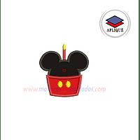 AG13AH - Mickey cumpleaños en apliqué